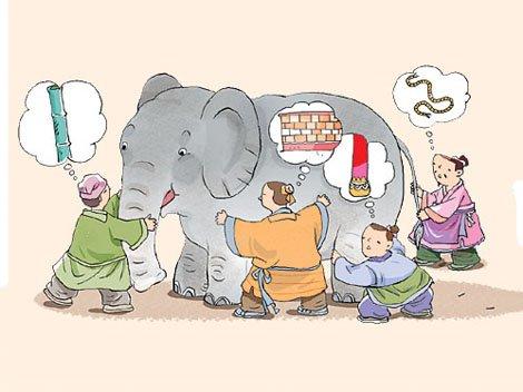 God, the Elephant, & the 6 Blindmen