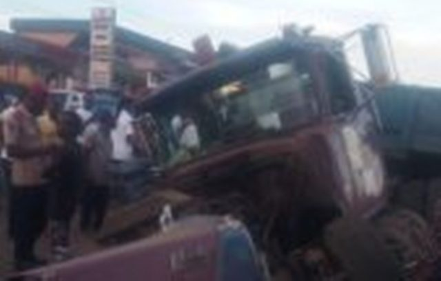 Truck Rams Bus In Anambra, Kills Pedestrian