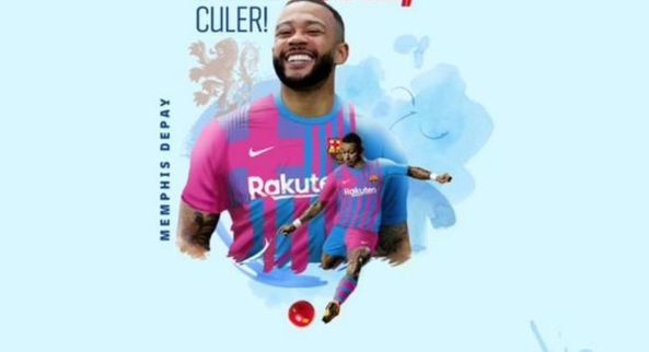 FC Barcelona confirm signing Memphis Depay on two-year contract | Lanre News