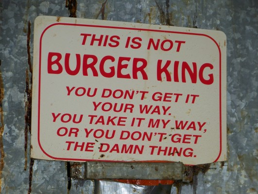 This is not Burger King