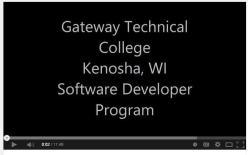 Gateway Technical College Software Developer Program Video