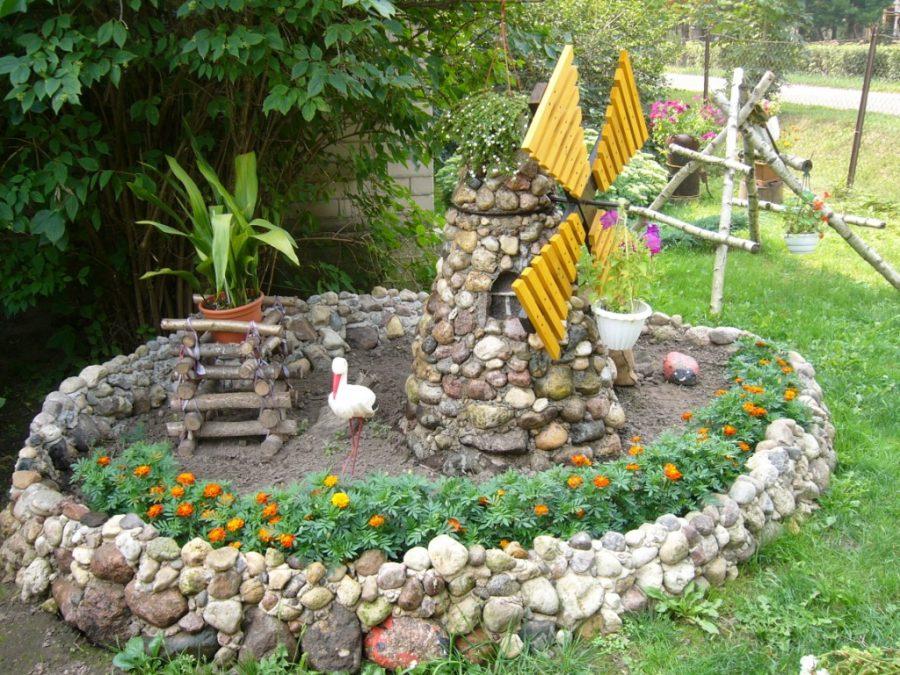 дизайн двора частного дома своими руками 5