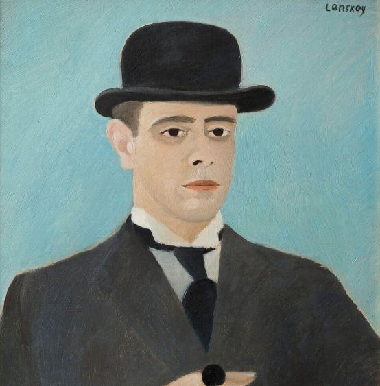Œuvre d'André Lanskoy, Autoportrait au chapeau melon, Huile sur toile, 13 mars 1933