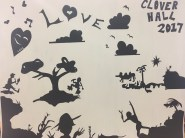 Kara-Walker-inspired artwork created by Lantern residents for Black History Month