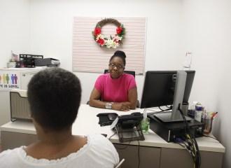 A Lantern social worker in her office