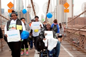 Lantern staff and residents attend the 2016 NAMI walk for mental illness