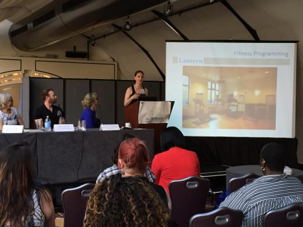 Lantern's Director of Arts, Culture and Fitness Karisa Antonio presents at The Supportive Housing Network of New York's annual conference