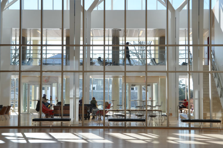 The Interior of JMU's newly renovated Duke Hall