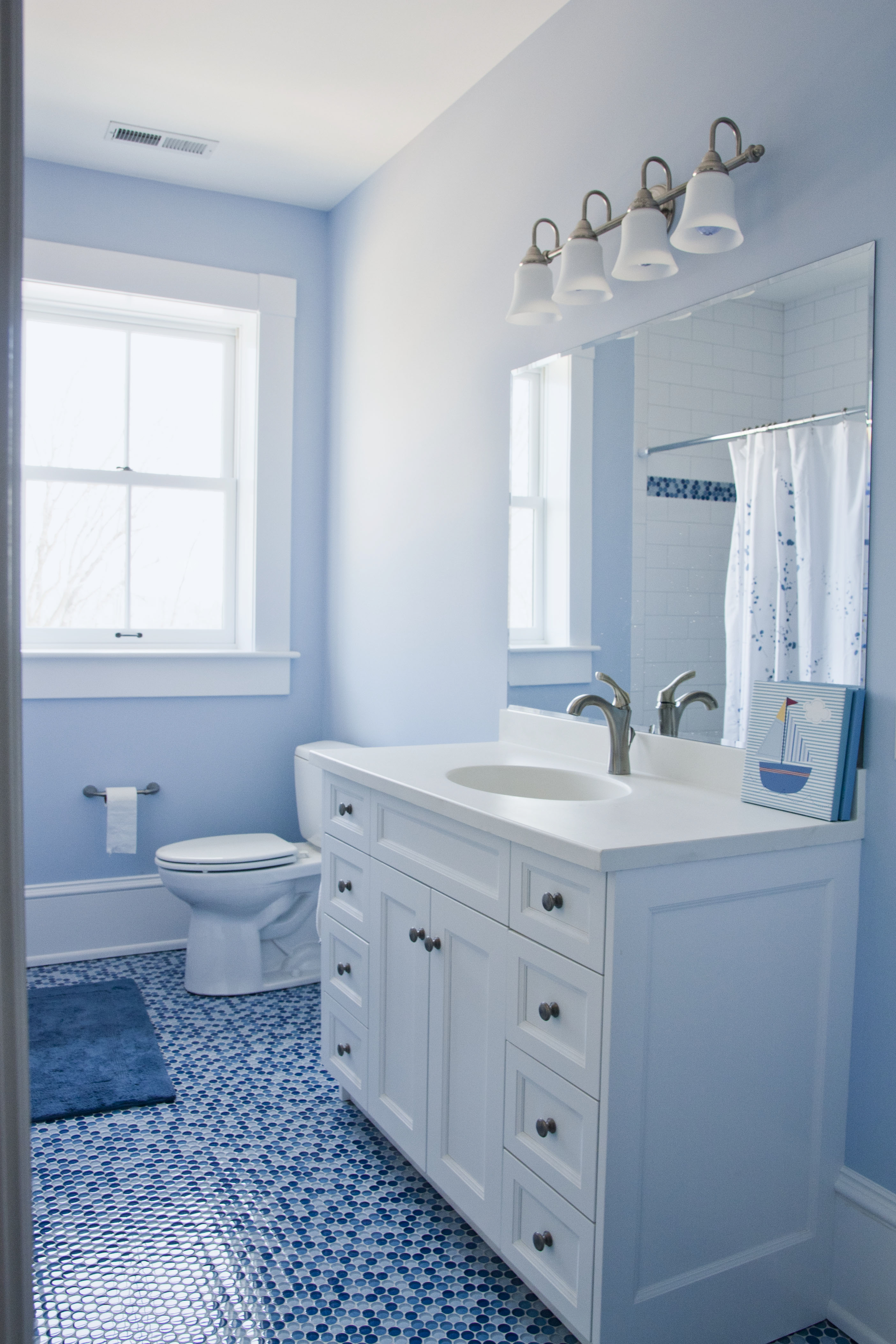 Slonaker Residence Bath Vanity by Lantz Custom Woodworking