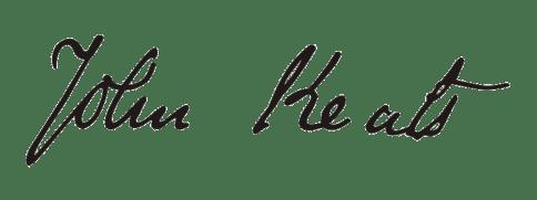 Firma de John Keats
