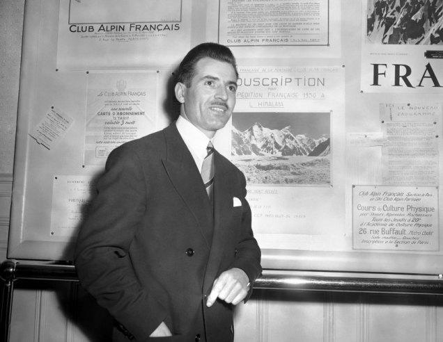 M.Herzog at Club Alpin Français. 1959.