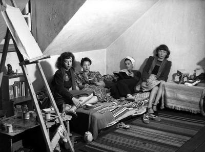 Rosaleen y colegas artistas.