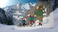 Viñeta de 'Tintín en el Tíbet'