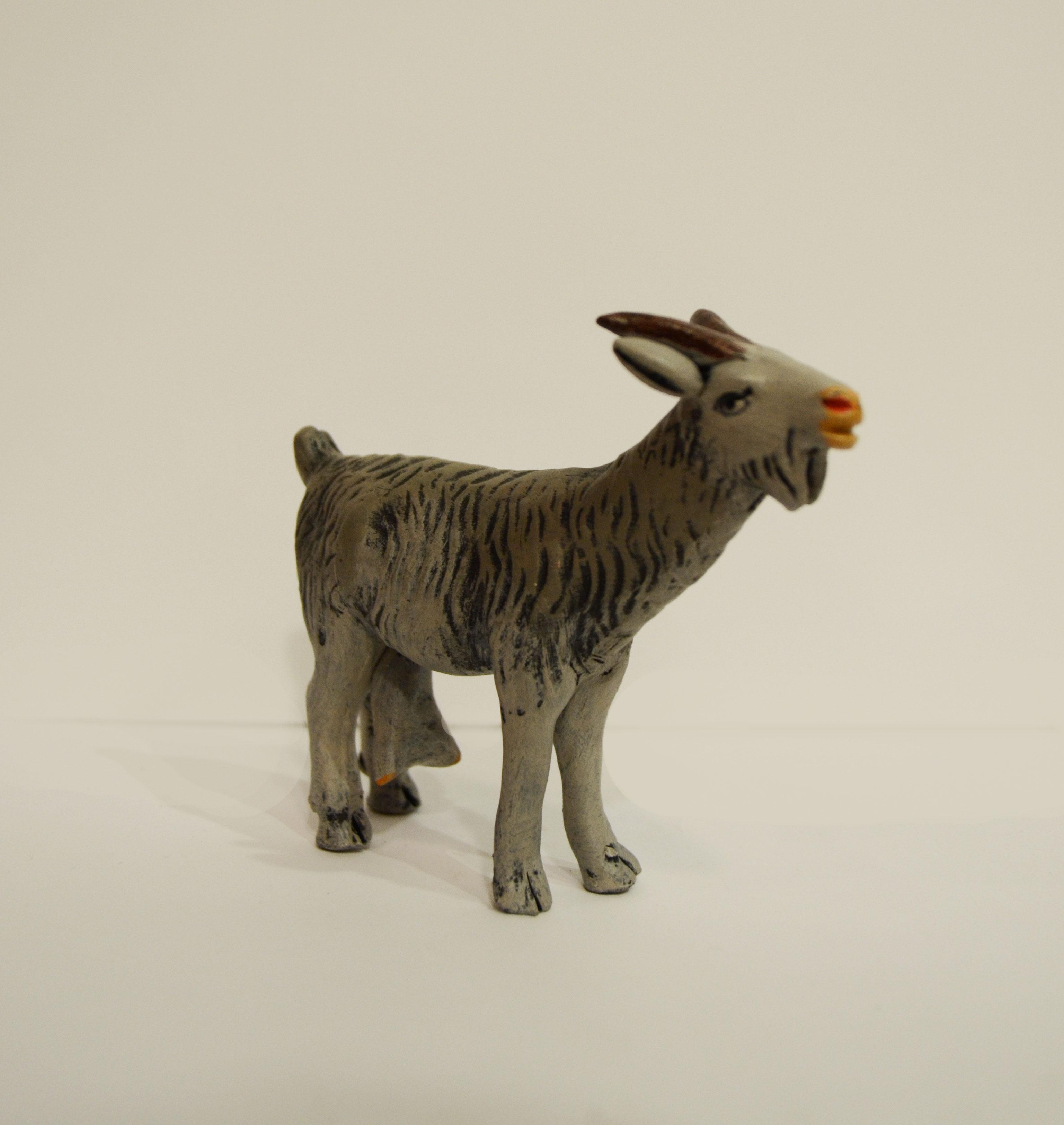 nacimiento navidad belen barro animales cabra