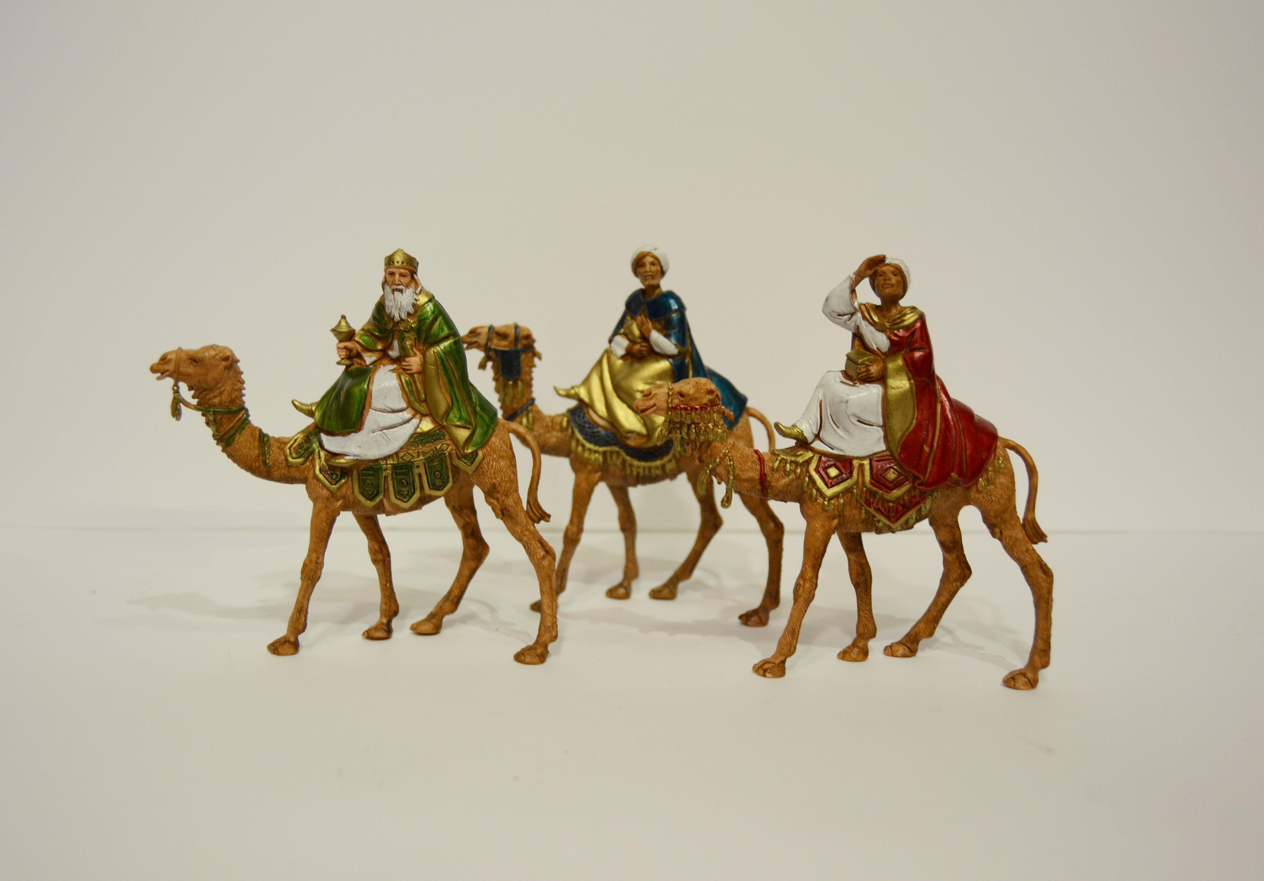 nacimiento navidad belen resina reyes magos