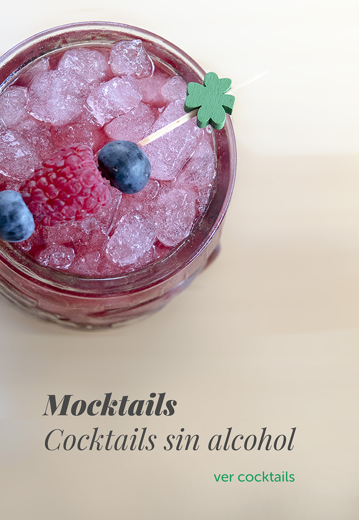 Mocktails, cocktails sin alcohol