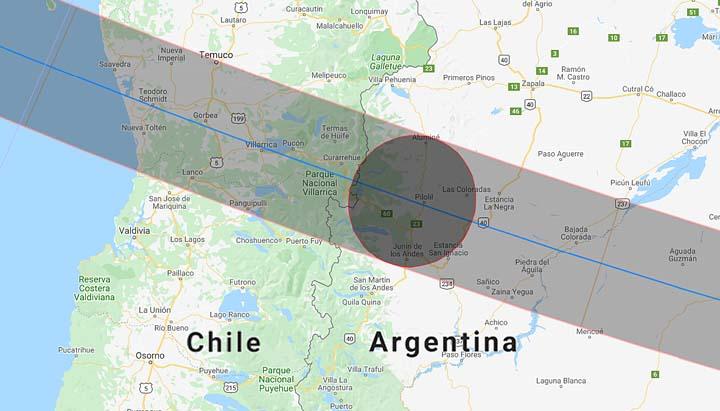Eclissi solare totale visibile in Cile, Argentina, Pacifico e Atlantico meridionale – 14 dicembre 2020, ora 13:33:55 UTC (17:14 ora italiana) + Terremoto di magnitudo 6.0 in Cile: un altro messaggio importante per l'umanità?
