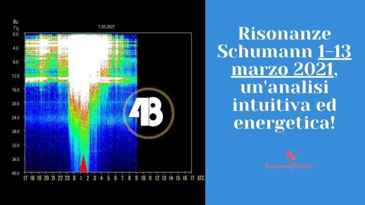 Risonanze Schumann 1-13 marzo 2021, un'analisi intuitiva ed energetica – video YouTube