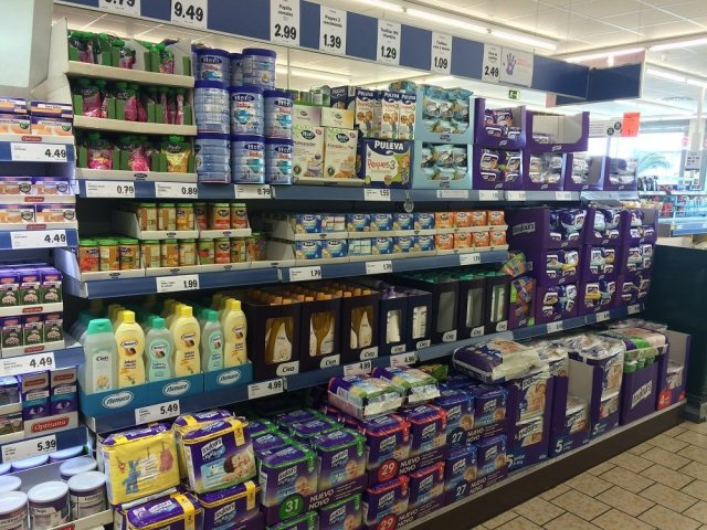 Baby section Lidl Arrecife March 2016