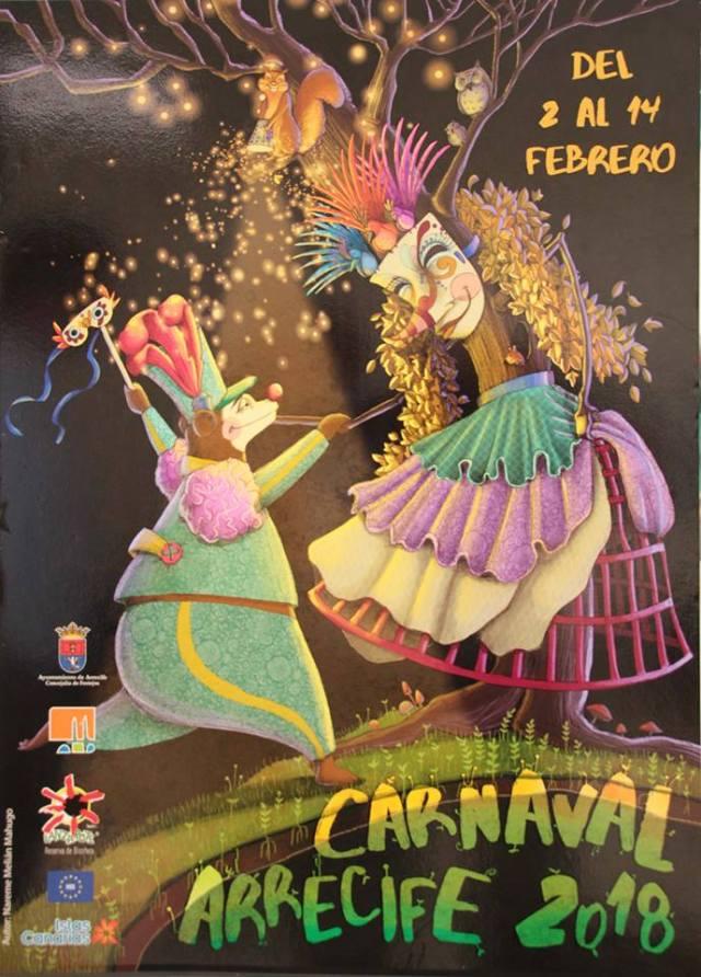 Arrecife Carnival Poster 2018