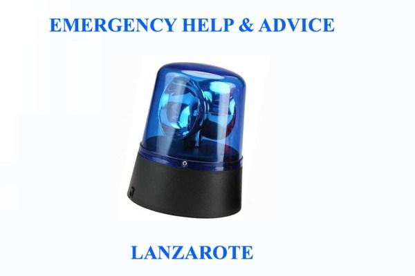Emergency Help & Advice Lanzarote