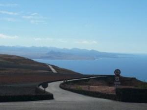 Mirador del Rio Cliff Top Road