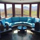 Window and sofa at Villa Viha