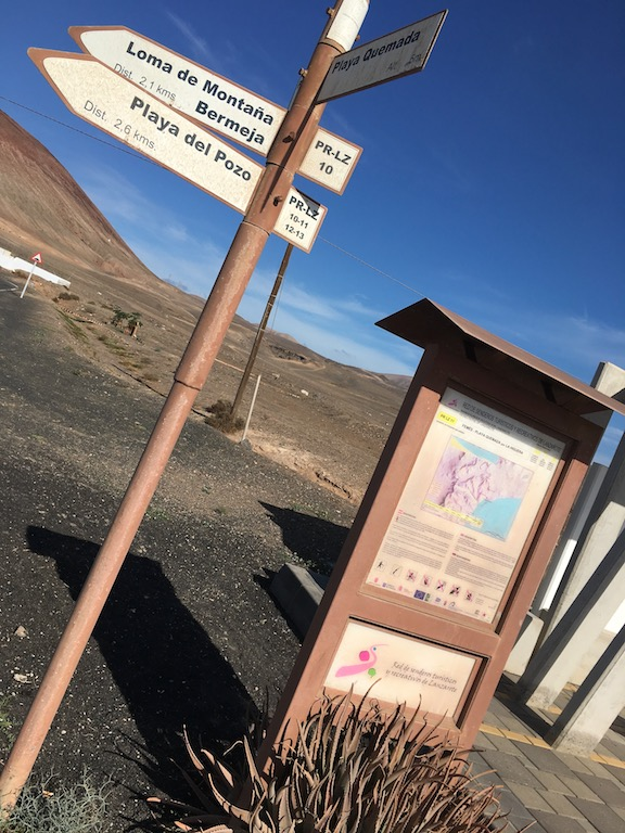 Signpost Playa Quemada