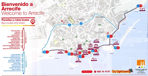 Arrecife Train Bus Map