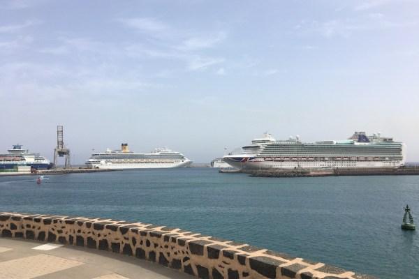 Cruise ships docked Arrecife Lanzarote