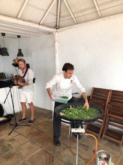 Antonio and his huge paella