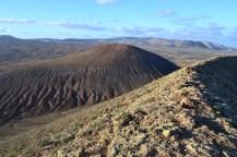 View from Montaña Corona to Montaña Saga