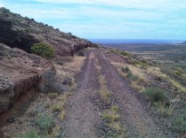 Track around the base of Montaña Guenia_2