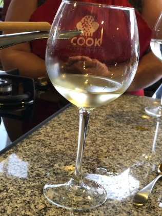Branded wine glass