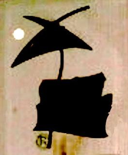 La Luna llena se mira, ilumina el jardín