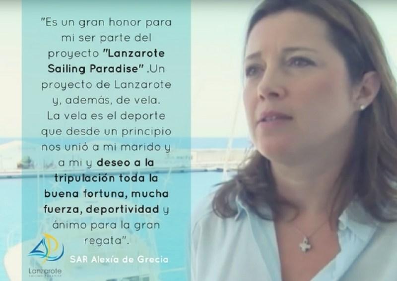 Mensaje_SAR_Alexía_de_Grecia_Lanzarote_Saililng_Paradise