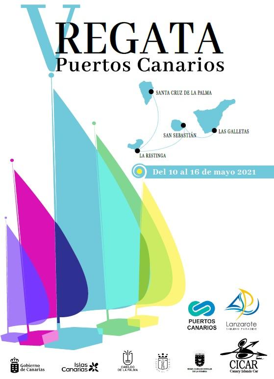 Poster Regata Puertos Canarios 2021- Lanzarote Sailing Paradise