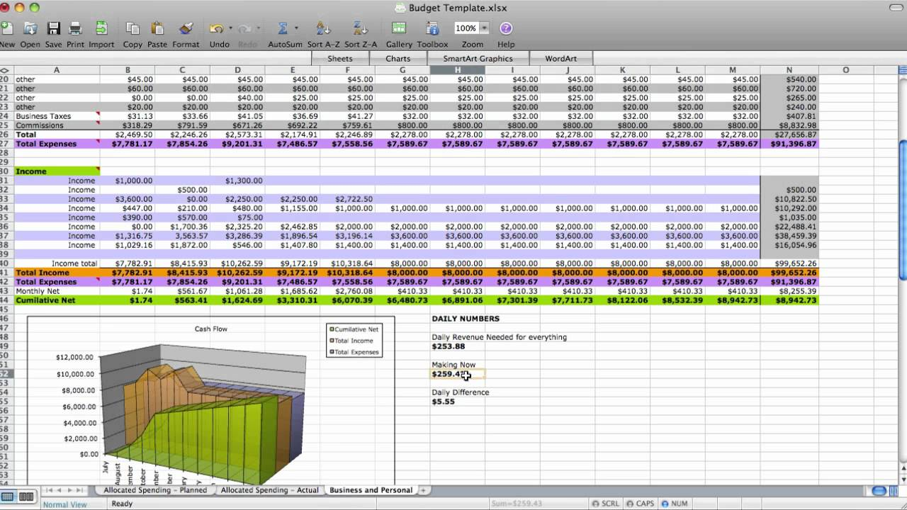 dave ramsey budget worksheet in excel - LAOBING KAISUO