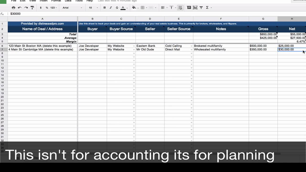 Real Estate Investment Spreadsheet Template | LAOBING KAISUO