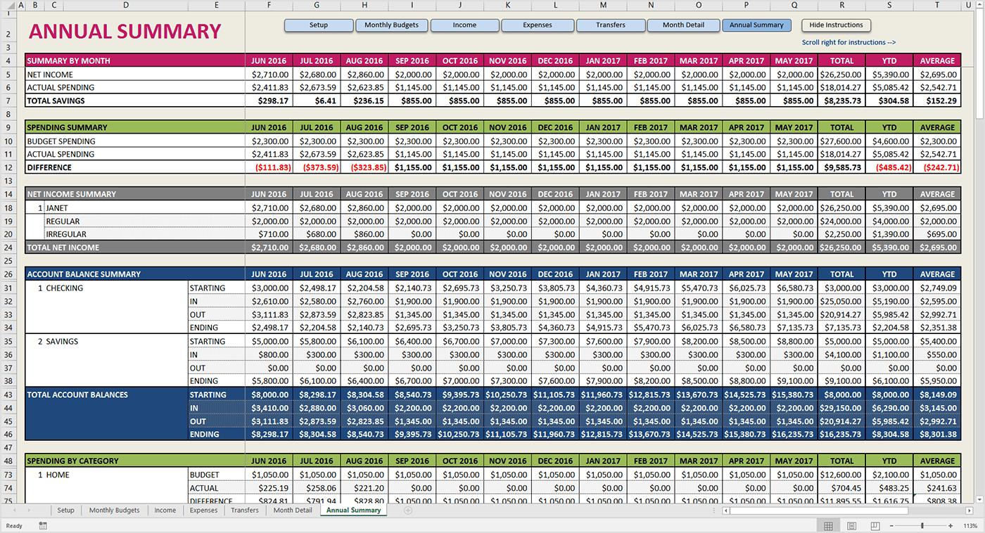 50 30 20 Budget Spreadsheet | LAOBING KAISUO