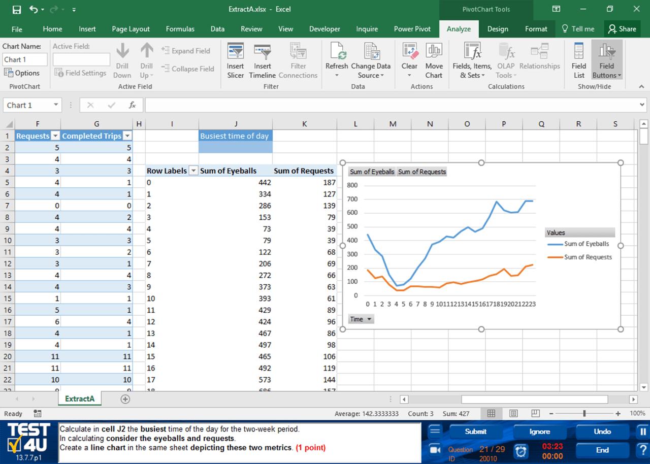 Excel Practice Test Exercises
