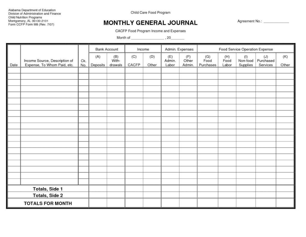 Download Free Accounting Template For Small Business