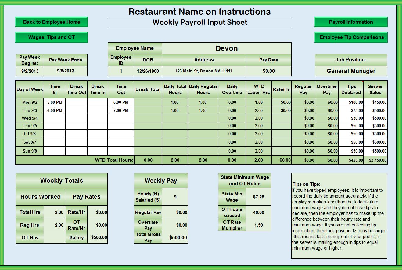 Download Free Restaurant Food Cost Spreadsheet