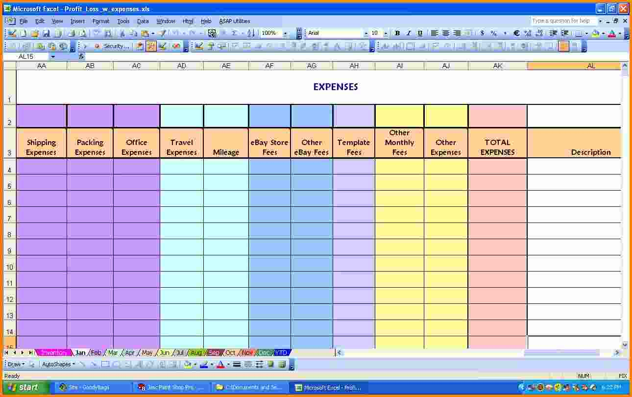Excel Spreadsheet For Household Expenses