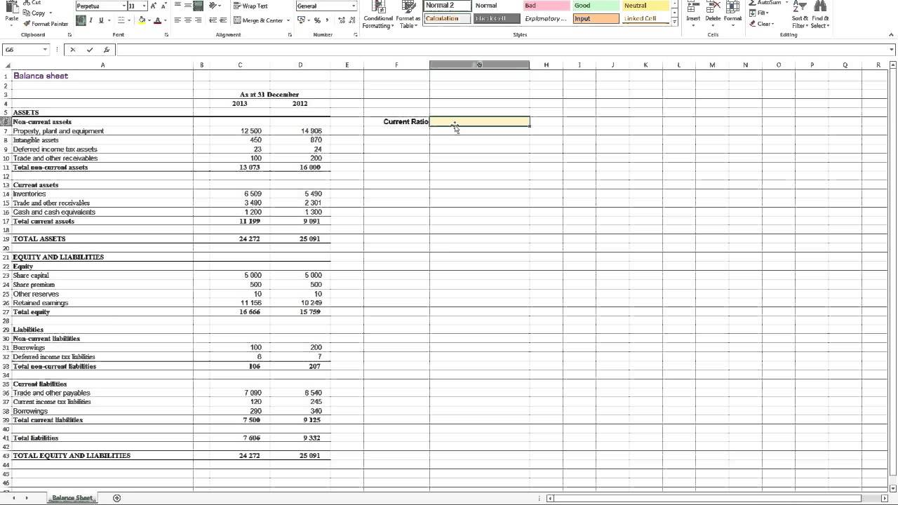 Financial Statement Analysis Spreadsheet | LAOBING KAISUO