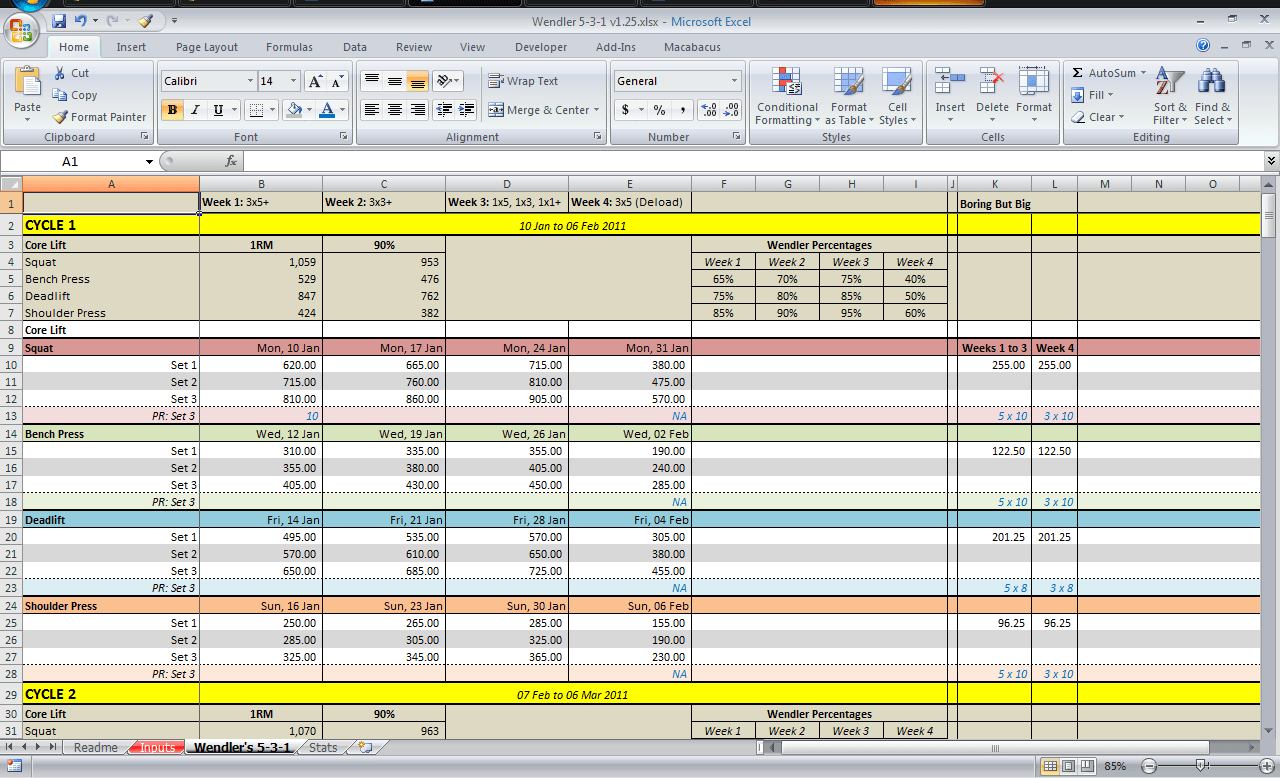 Safety Tracking Spreadsheet