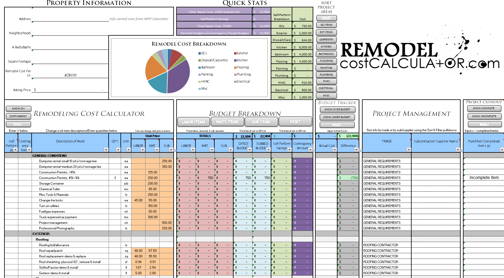 Crop Budget Spreadsheet