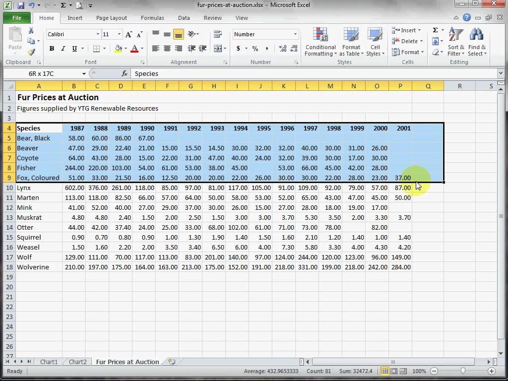 Excel Spreadsheet For Practice