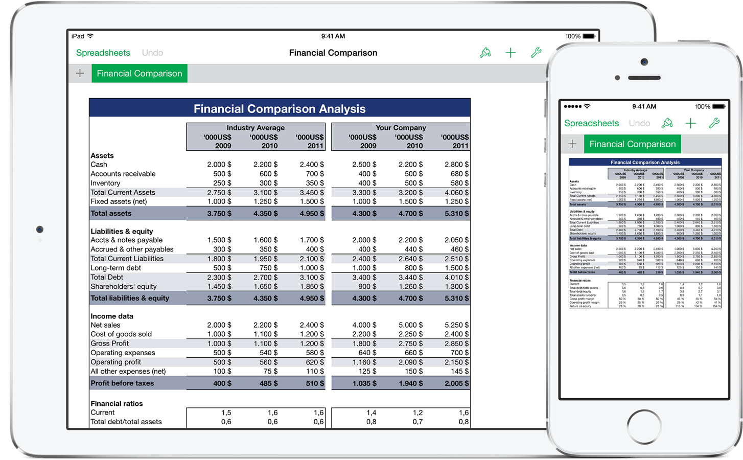 Download Spreadsheet For Ipad Compatible With Excel