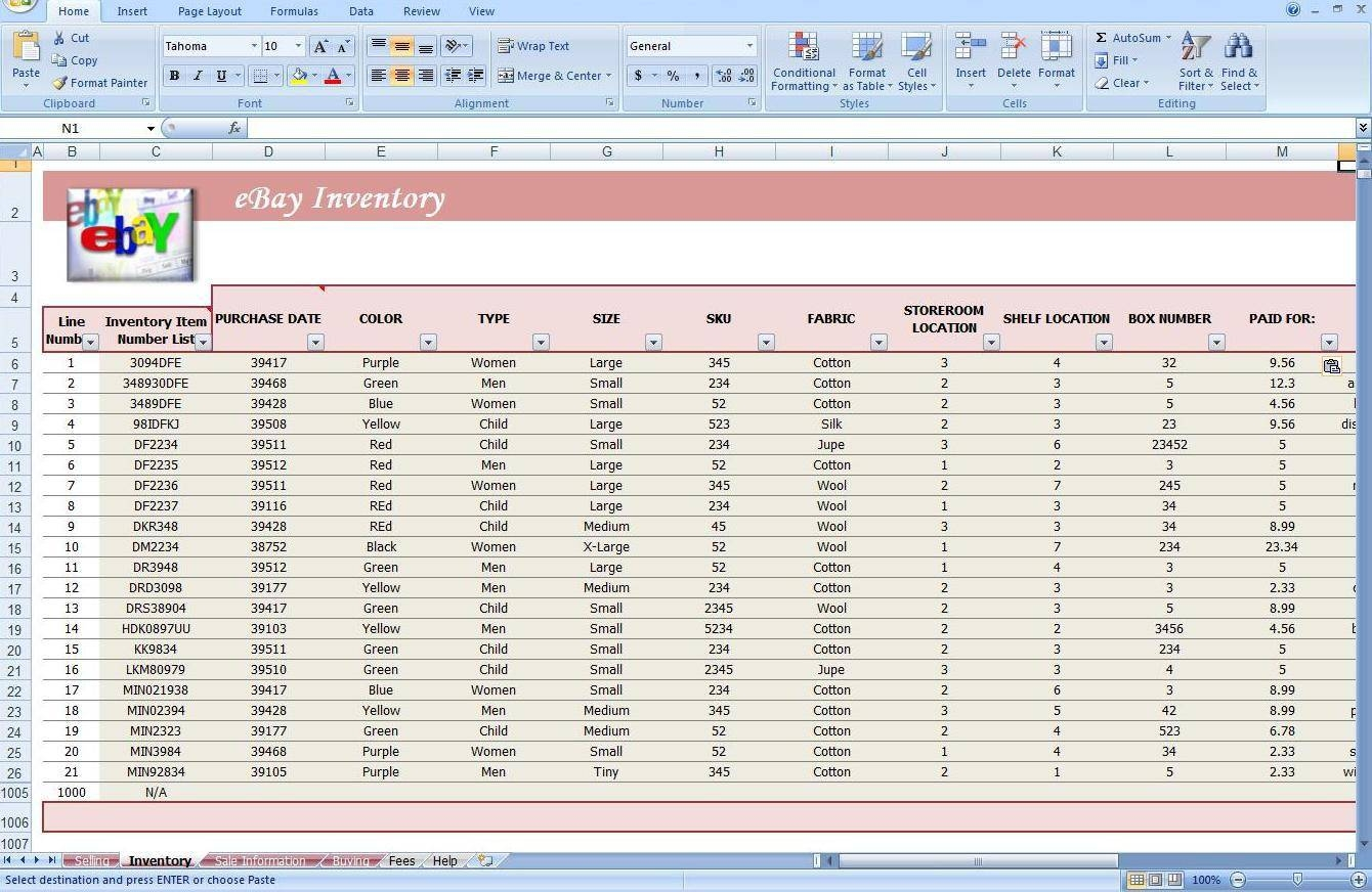 Jewelry Inventory Spreadsheet Template | LAOBING KAISUO